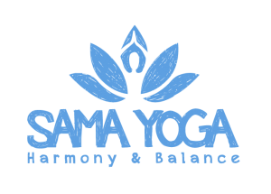 Sama Yoga Logo blue